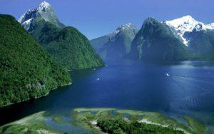 Национальный парк фьордов в Новой Зеландии