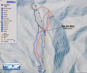 Горнолыжные туры в Грузию, Бакуриани. Карта трасс Бакуриани