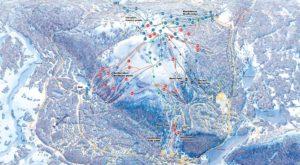 Схема трасс курорта Леви. Туры в Финляндию